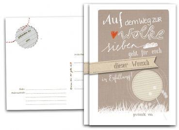 Ballonflugkarten für die Hochzeit, als Hochzeitsspiel, Auf dem Weg zur Wolke 7, 25-100 Ballonkarten