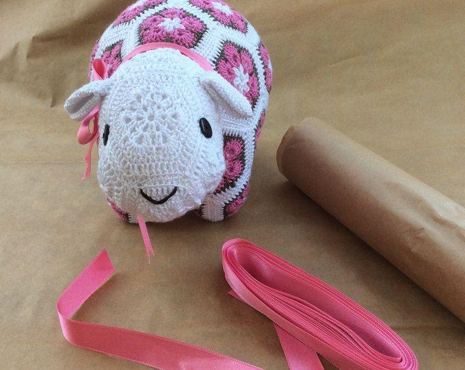 Afrikaanse bloemen gehaakte schapen, gevulde speelgoed