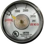 PSP Series 1.25 in. Stainless Steel Case Spiral Tube Pressure Gauge with 1/8 in. NPT CBM and Range of 0-3000 psi