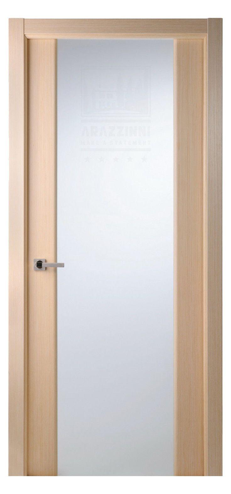 """Modern Interior Doors Ideas 30: 30"""" X 80"""" Grand 202 Oak Modern Interior Door Frosted Glass"""