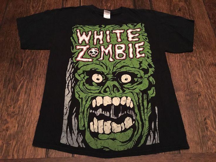 Vintage Concert Tee Shirt  / vintageWHITE ZOMBIE mens L large black shirt rob zombie alternative heavy metal / Danzig Grunge Metal, Pantera by HippieGypsyBoutique on Etsy