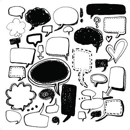 Cómics de los discurso y pensamiento burbujas
