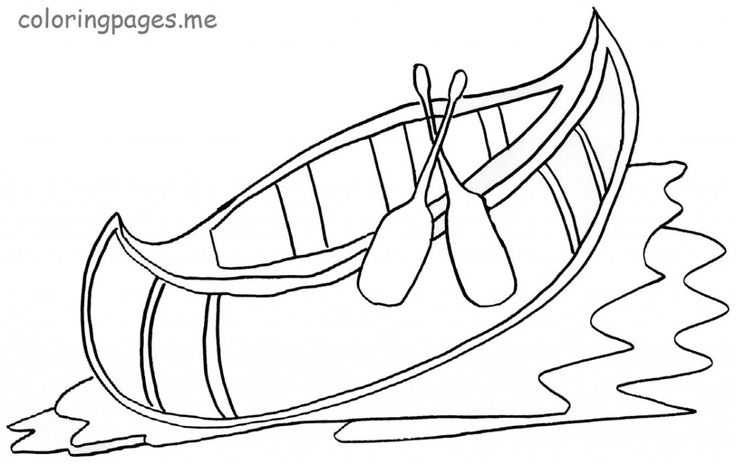 Canoe Coloring Pages for Kids