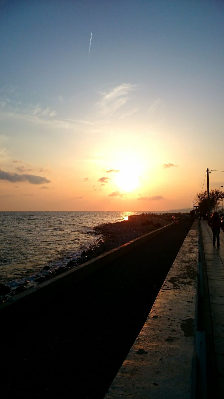 Alexandroupolis, Greece, sunseting