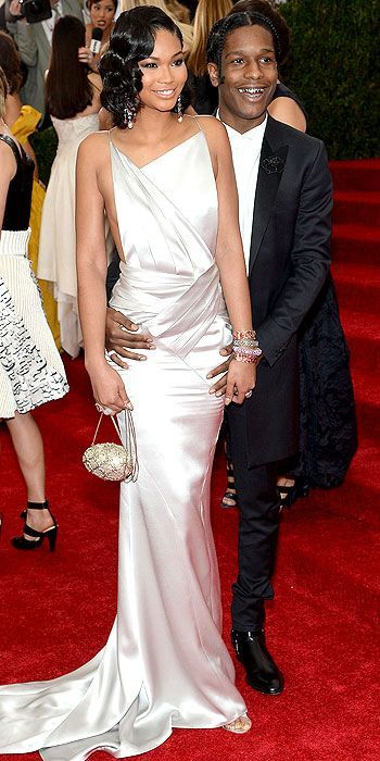 Chanel Iman in Topshop and ASAP Rocky