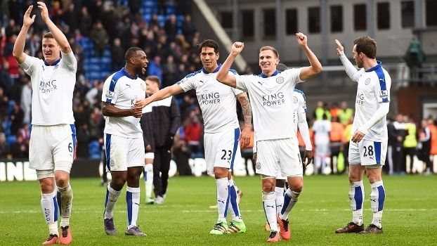 Leicester Comemora Vitoria Crystal Palace Campeonato Ingles 19/03/2016