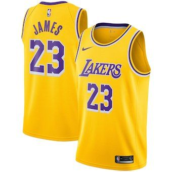 LeBron James Los Angeles Lakers Nike 2018 19 Swingman Jersey Gold - Icon  Edition Lebron 13e7c25f1