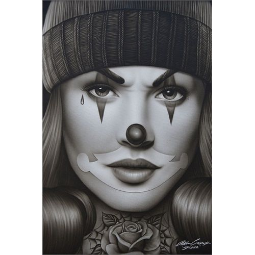 Woman face tattoo tumblr bring in the clowns for Face tattoo makeup