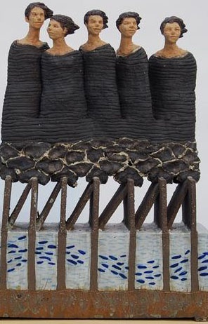 ♀ Art ceramic sculpture Hanneke van den Bergh