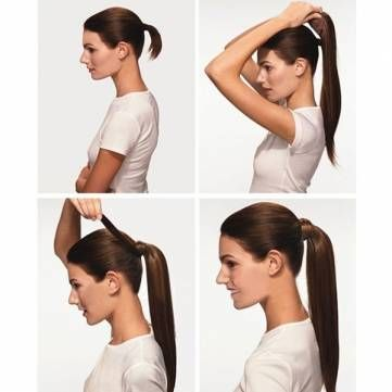 Wrap Around Pony Tail Hair Extension Clip In Long Straight Ponytail - €6.71