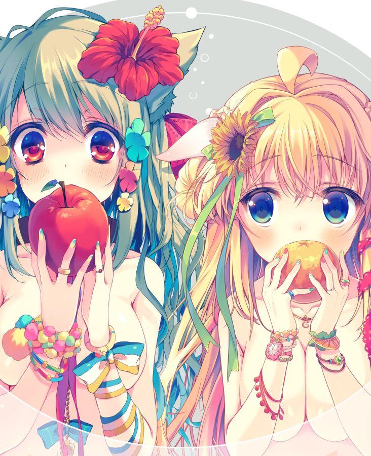 аниме красивая девушка и фрукты: 25 тыс изображений найдено в Яндекс.Картинках