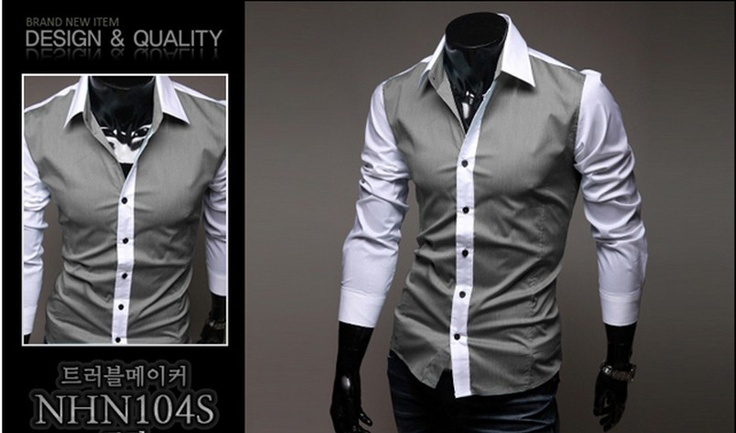 $11.42 Personalized Korean New Fashion Slim Cotton Shirts Deep Grey _Shirts(3391)_Men(30629)_Wholesale Clothes-Buy China Wholesale Clothes from Cheap Clothes Wholesale In China on Wholesale-orders.com