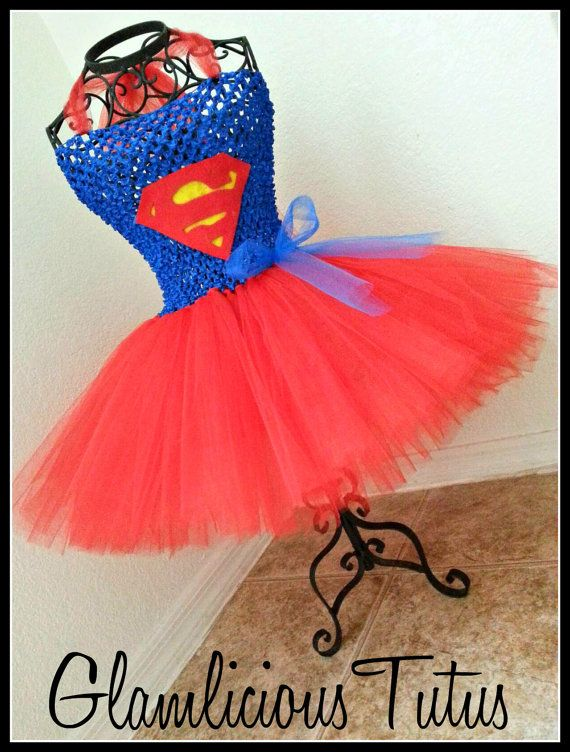 Super Girl tutu dress Super Man tutu dress by GlamliciousTutus, $20.00