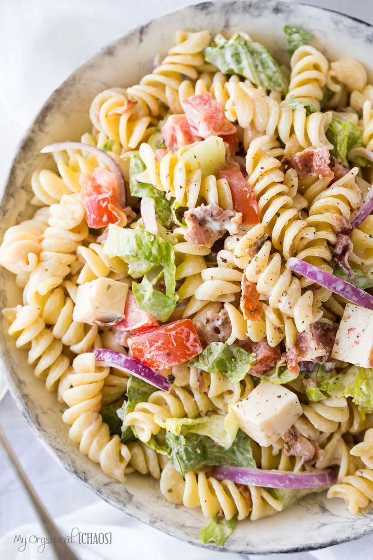 Blt Pasta Salad Recipe Recipes Pinterest And Salads