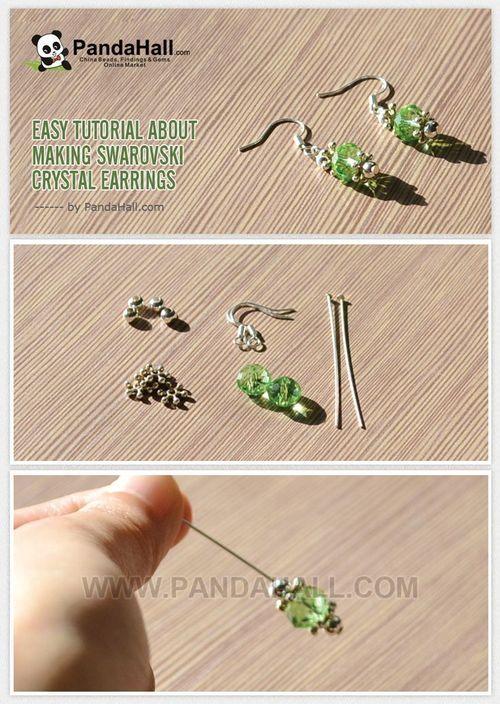 Jewelry Making Tutorial about Making Swarovski Crystal Earrings | PandaHall Beads Jewelry Blog