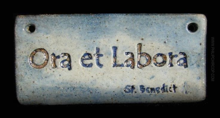 ORA ET LABORA Today marks the feast day of Benedict of Nursia. One short latin phrase often linked to Saint Benedict and the Benedictine Order is  Ora et labora. It is seen plastered on everything...