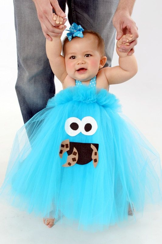 cookiemonsterinspiredtutudresscostumefordress baby girl halloween - Baby Monster Halloween Costumes