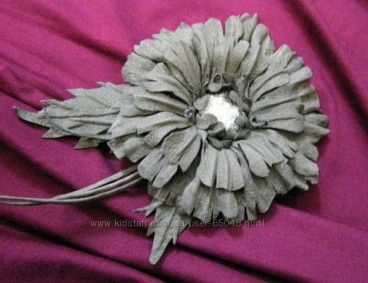Hand-made Leather brooch