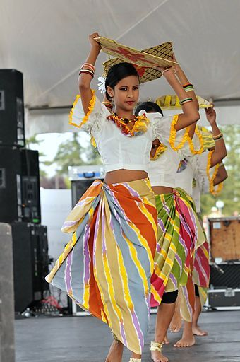 Traditional Sri Lankan harvesting dance dress
