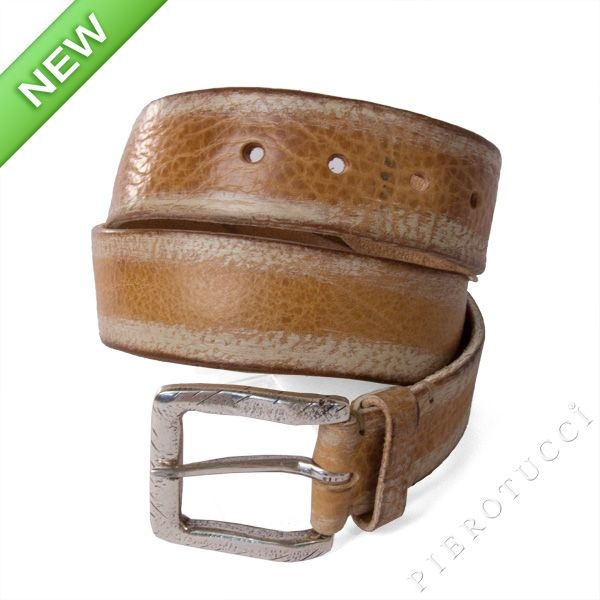 Post & Co designer leather belt with silver colored buckle, washed leather look  http://www.pierotucci.com/en/italian-online-shop/46-0/Post-and-Co-Leather-Belts.html