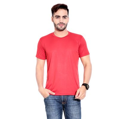 Buy Rajadhani Red Polyester T-Shirt (Size-S) by Rajadhani Knitwear, on Paytm, Price: Rs.225