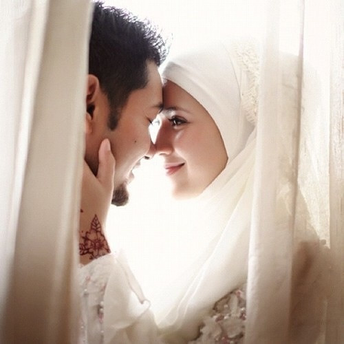 Muslim couple. The look she gave him...