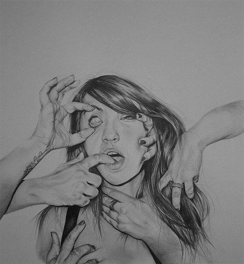 Drawings by artist Hannah Scott
