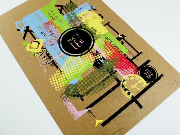 Maya Lee Mashup Stationery by Michael Croxton, via Behance