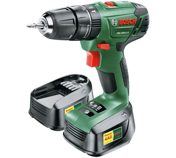 Buy Bosch PSB 18 1.5AH Hammer Drill with 2 Batteries - 18V at Argos.co.uk - Your Online Shop for Drills, DIY power tools, DIY tools and power tools, Home and garden.