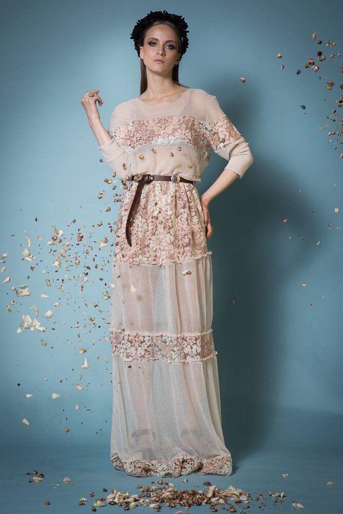 Pearl embroidered dress - Dresses - NIDODILEDA