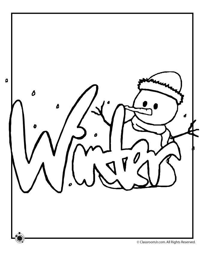 This is a graphic of Versatile Winter Xname Coloring Sheets