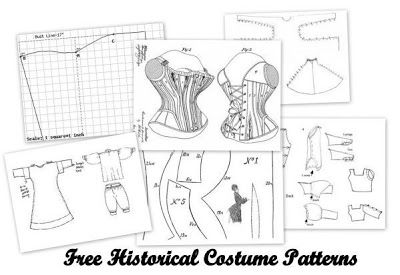 Free historical costume patterns--lots of links, including a zip for 6 different corsets