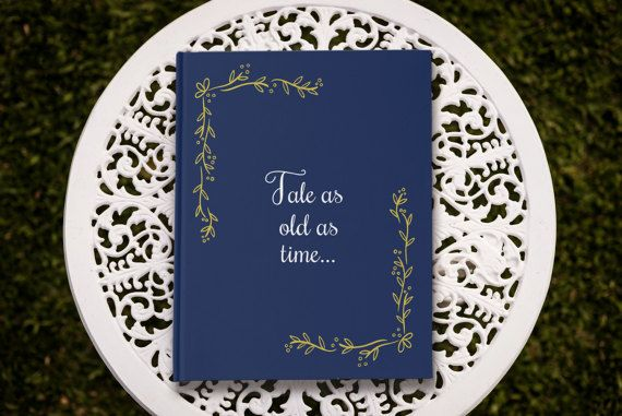 Tale as old as time Fairytale Wedding Guest Book by PaperBoundLove