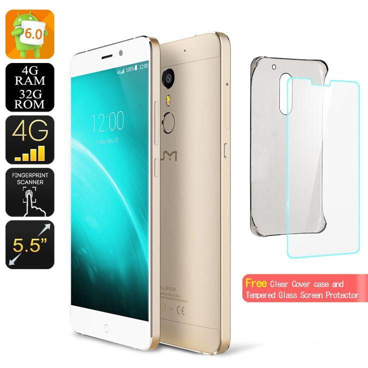 UMI Super  Экран 5.5 дюйма  со сканером отпечатков пальцев  4 Гб оперативной памяти  32 Гб ROM смартфон Цена US: $216.12 Сэкономить US: $31.40