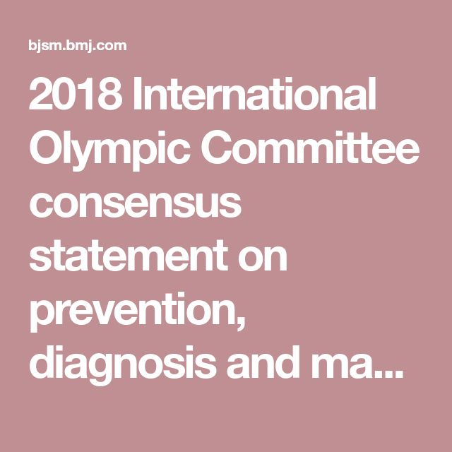 2018 International Olympic Committee consensus statement on prevention, diagnosis and management of paediatric anterior cruciate ligament (ACL) injuries
