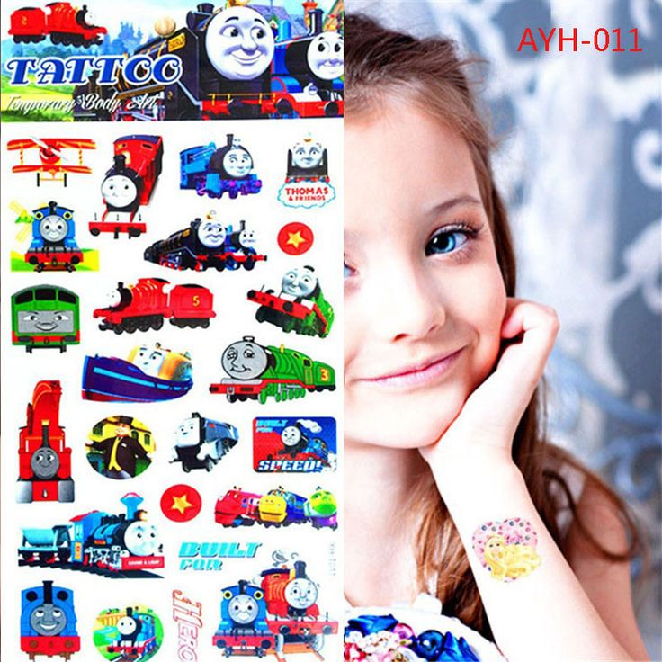 2017 1pc Train Thomas And Friends Tattoo Stickers 21*10cm Kids Toy Cartoon Waterproof Anime Temporary Body Art Children Comics
