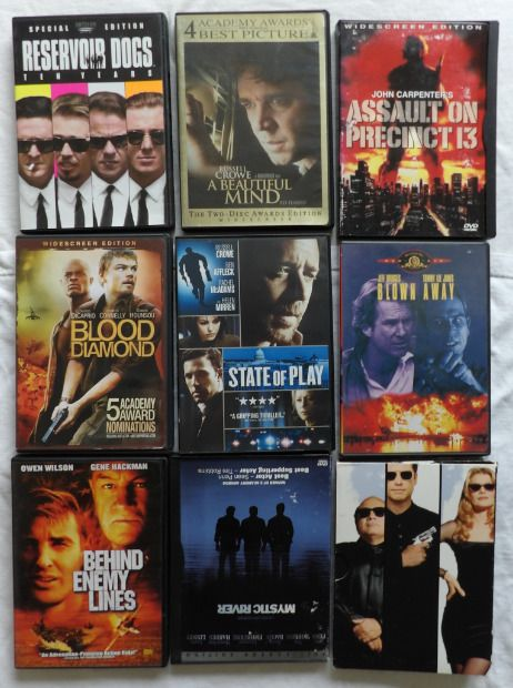 A Beautiful Mind DVD 8 Other Movies Reservoir DogsGet ShortyMystic Rive