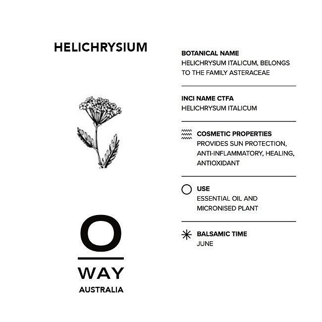 One of our 0kms essential oils comes from the Helichrysum grown on our 50000 sq metre biodynamic farm OrtOfficina which is perceived as an ecosystem where human beings plants and animals live in synergy and harmony.#biodynamic #oway #owayaustralia #essentialoils #hair #organichair #cleanliving #brisbanehair #sydneyhair #melbournehair
