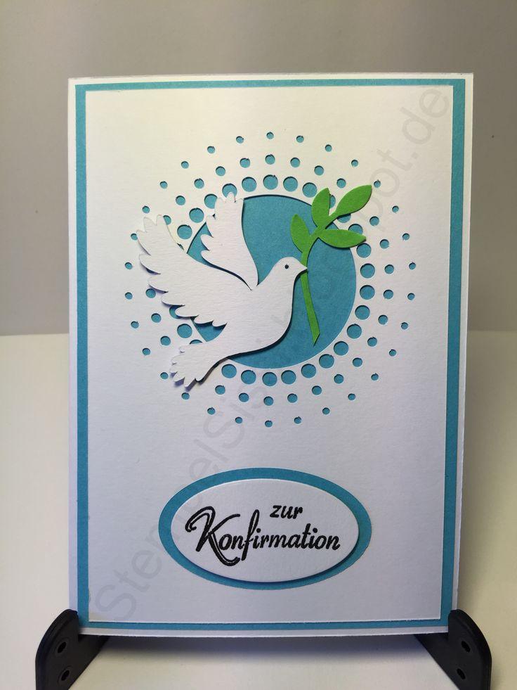 Konfirmation Karte Taube Konfirmation Card dove #StempelSissi #Sissi_s_kreatives_Kämmerlein