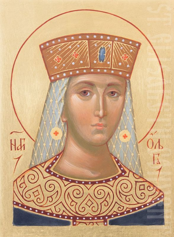 A Handpainted icon of Princess Olga Equal-to-the-Apostles    See icon: https://catalog.obitel-minsk.com/st-olga-imp-02-01-23.html     #CatalogOfGoodDeeds #Orthodox #OrthodoxBlog #Icon #Iconography #OrderIcon #BuyIcon