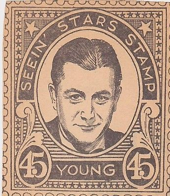 GIG YOUNG MOVIE ACTOR VINTAGE SEEIN STARS STAMP GRAPHIC PHOTO PROMO