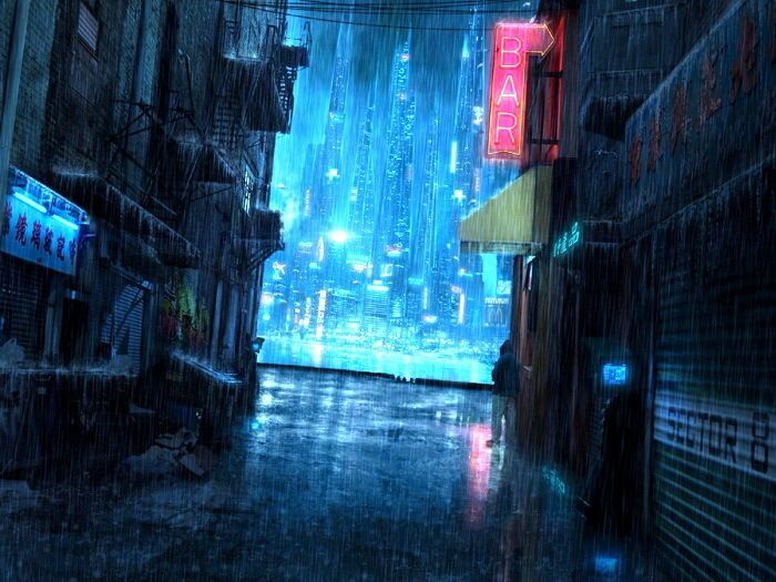 4 17 Cyberpunk Night City Streets Painting Art Wall Print Poster Ebay Collectibles Cyberpunk City Futuristic City Urban Fantasy Art