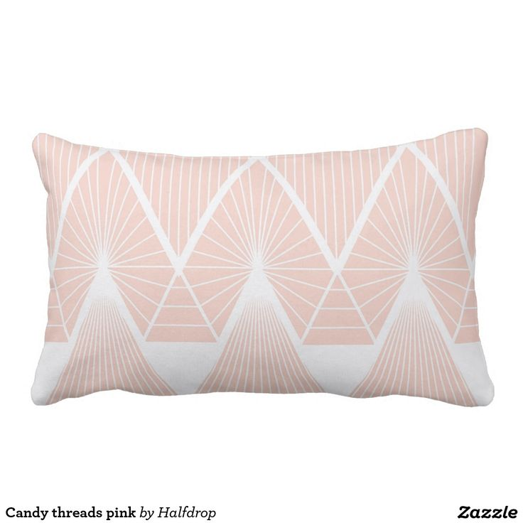 Candy threads pink pillow