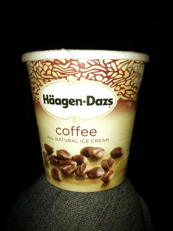 Hagen Daz Coffee Ice cream... Mmmmm