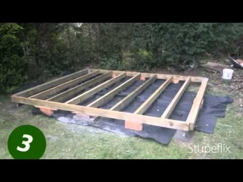 How to level a Shed Base/Foundation  Part 1