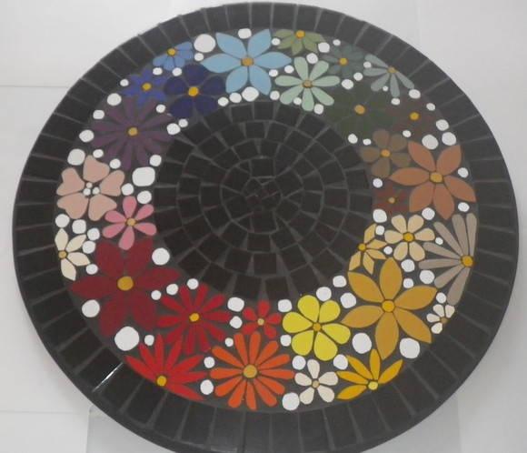 Prato-Giratorio em Mosaico