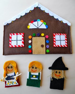 A Song of Sixpence: Hansel and Gretel finger puppets