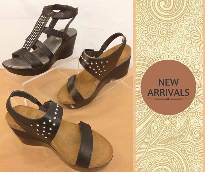The spring Naots are arriving daily. Pictured are the beautiful, new  Prodigy and Mystery sandals.