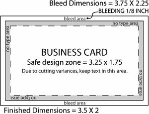 Bleed area on business cards tarjetas de presentacion for Business card size with bleed