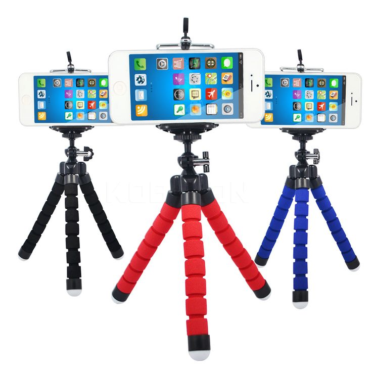 Mini Flexible Sponge Octopus Tripod for iPhone Samsung Xiaomi Huawei Mobile Phone Smartphone Tripod for Gopro Camera DSLR Mount  Price: 2.79 USD